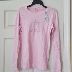 Support the cure NEW thermal tee